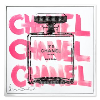 CHANEL CHANEL CHANEL White - Silk Screen/Swarovski [ Exclusive ] -