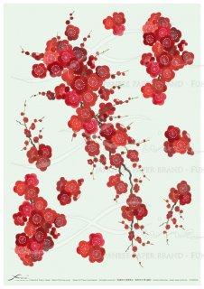 アートペーパー「FUNE」JSAD0004 陶絵 紅梅