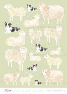 アートペーパー「FUNE」ATNM03048 羊と犬