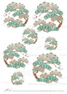ライスペーパー「FUNE」JSAR1030 陶絵 丸紋松