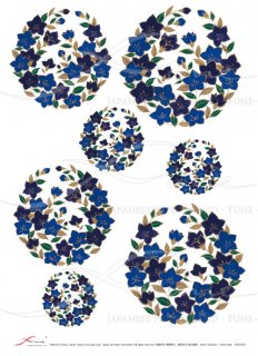 ライスペーパー「FUNE」JSAR1023 陶絵 丸紋桔梗