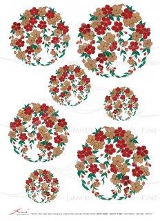 ライスペーパー「FUNE」JSAR1019 陶絵 丸紋桜
