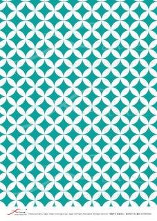 ライスペーパー「FUNE」RCNM03020 七宝繋ぎ(緑B)