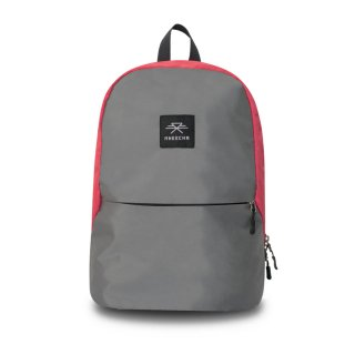バックパック Mheecha / SPACE PACK / GRAY+CANDY RED