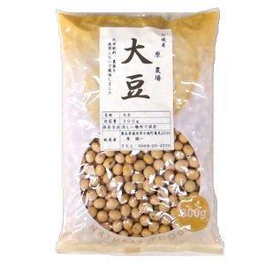 農薬・化学肥料・動物性肥料不使用 原さんの大豆(フクユタカ) 300g