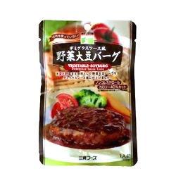 三育フーズ デミグラスソース風野菜大豆バーグ(大豆ハンバーグ) 100g(固形量60g)
