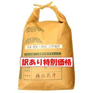 【2019年度産 訳あり特別価格】農薬・肥料一切不使用の自然栽培米「藤田さんのにこまる 5Kg」※玄米のみ