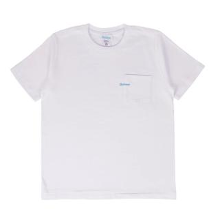 ミニロゴ刺繍 ポケット Tシャツ / ホワイト