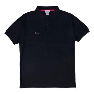 ベーシックスタイル TC鹿の子 ポロシャツ / ブラック