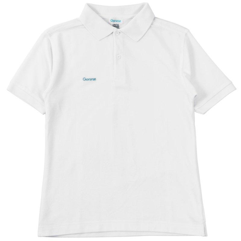 ベーシックスタイル TC鹿の子 ポロシャツ / ホワイト