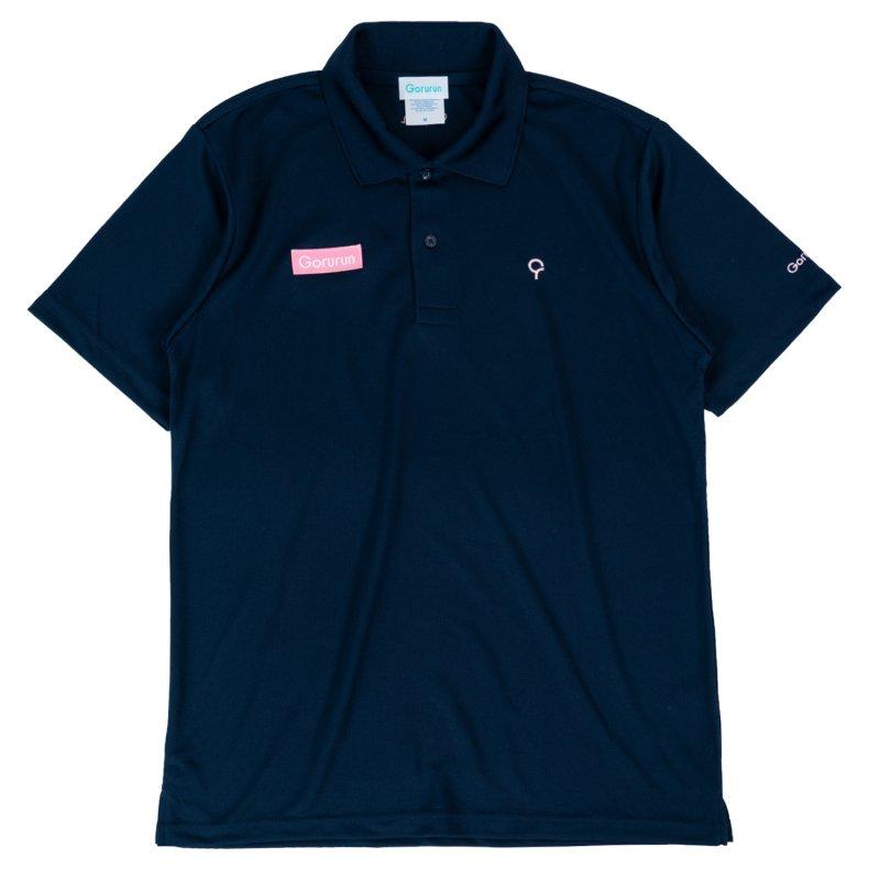 ベーシックスタイル クールパス ドライ ポロシャツ / ネイビー
