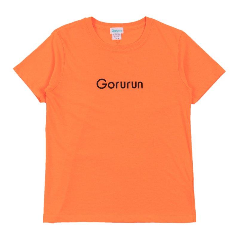 ハイブリッド クルーネック ロゴ Tシャツ / ネオンオレンジ