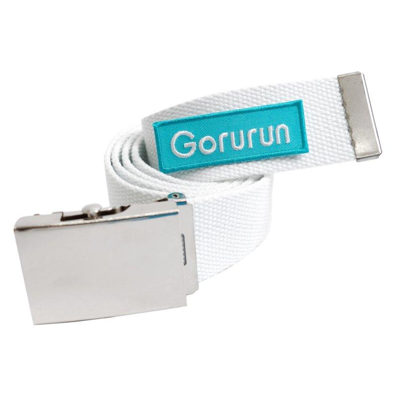 Gorurunボックスロゴ ベルト / ホワイト × ゴルランブルー