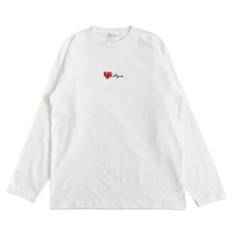 バレンタインカーディオグラム L/S Tee ホワイト