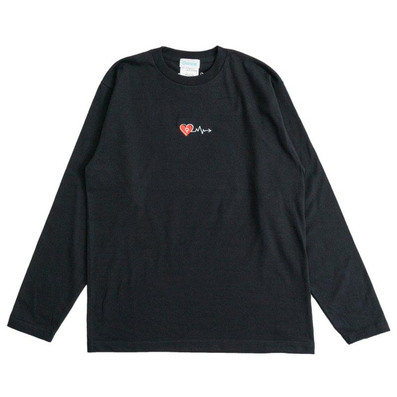 バレンタインカーディオグラム L/S Tee ブラック