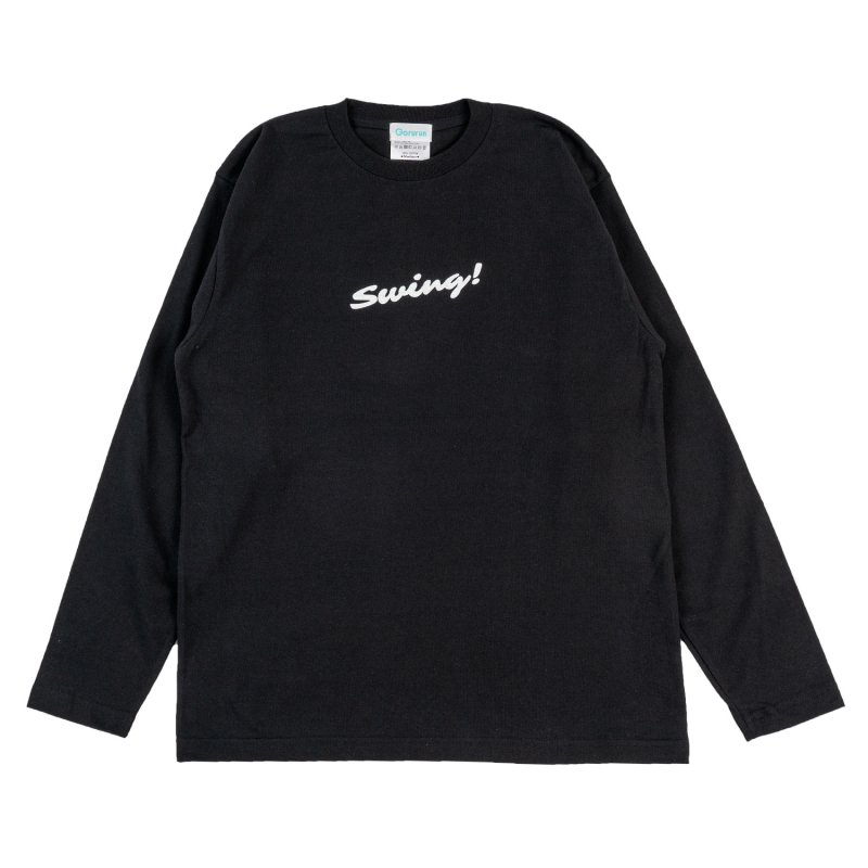 Blushed SWING L/S tee / ブラック