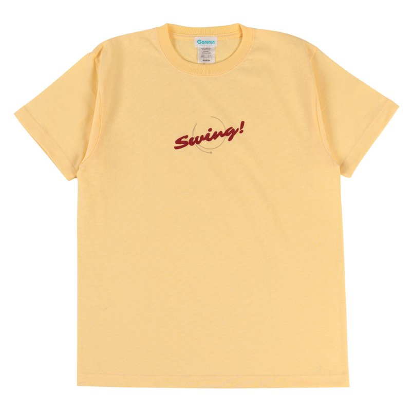 Blushed SWING S/S tee / イエロー