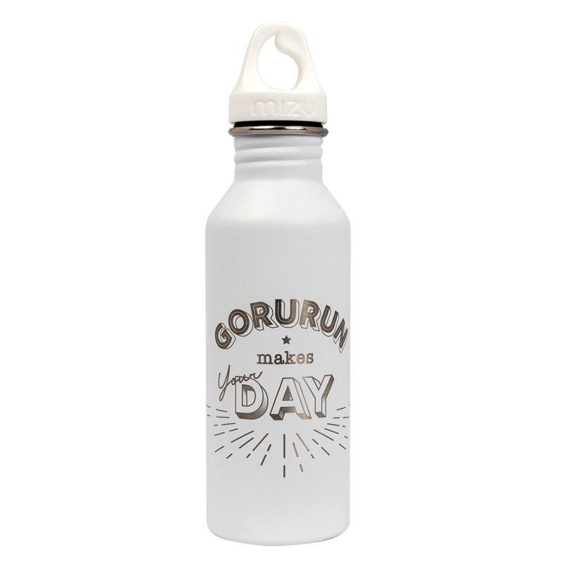 Gorurun mizu M5 ステンレスウォーターボトル 18oz 530ml ホワイト