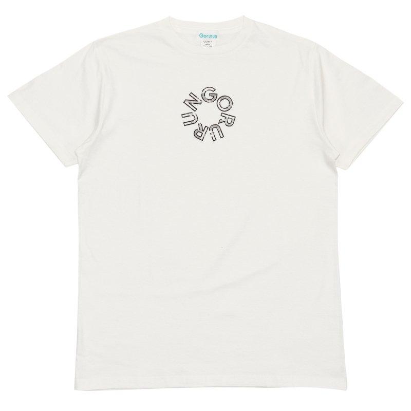 ラウンドロゴテキスト プリント Tee / ホワイト