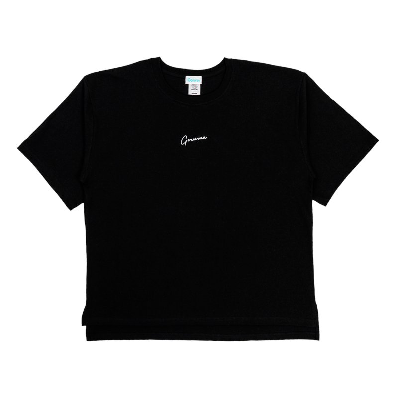 ハンドライティングロゴ ビッグTシャツ / ブラック