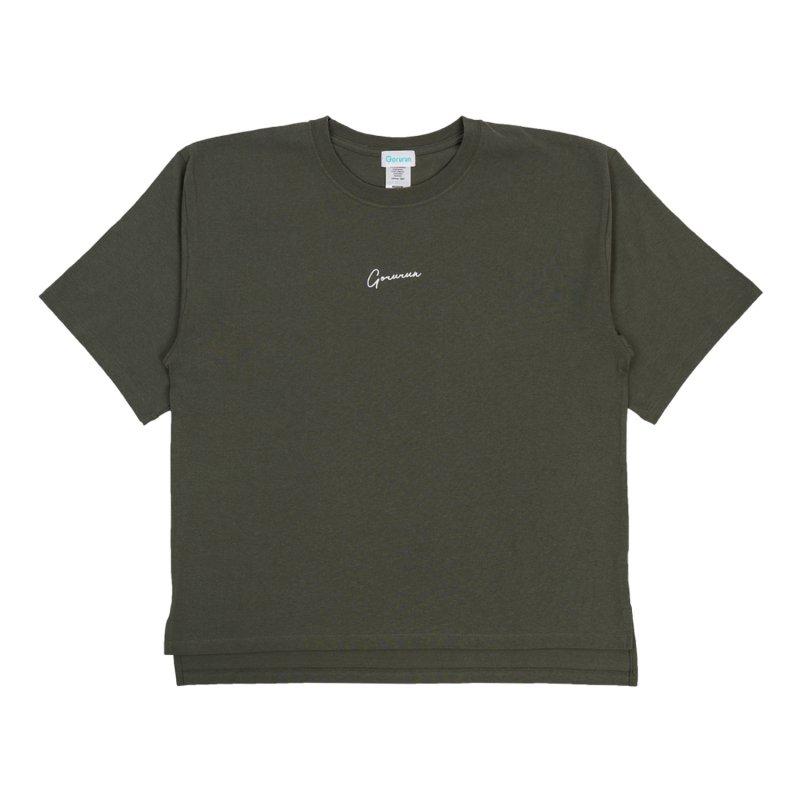 ハンドライティングロゴ ビッグTシャツ / カーキ