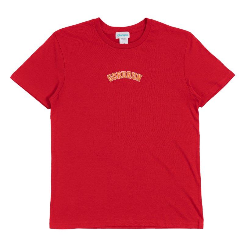 アーチロゴ ステッチ Tシャツ / レッド