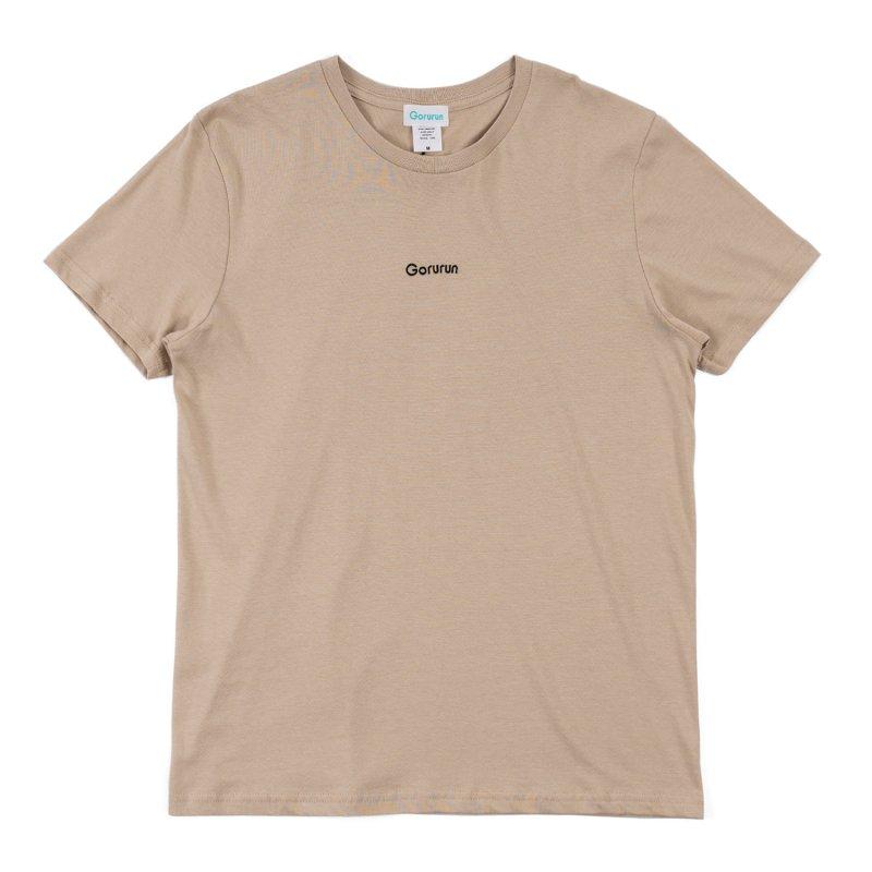ロゴ刺繍 スタンダート Tシャツ / ストーン