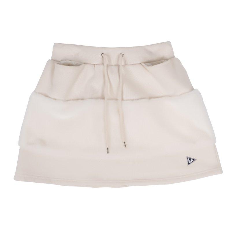 【レディース】 エコファー切り替えスカート ホワイト