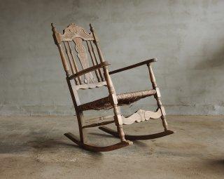 ラッシュ座面の揺り椅子