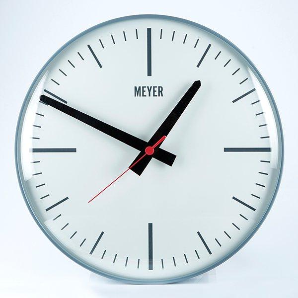 Modern Clock Gray Minimal