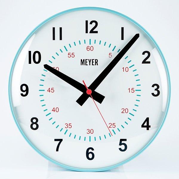 Modern Clock Turquoise Cool