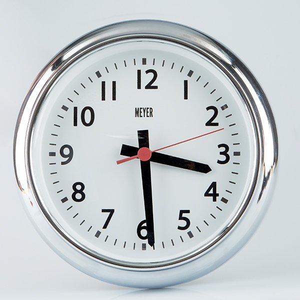 Vintage Clock Silver
