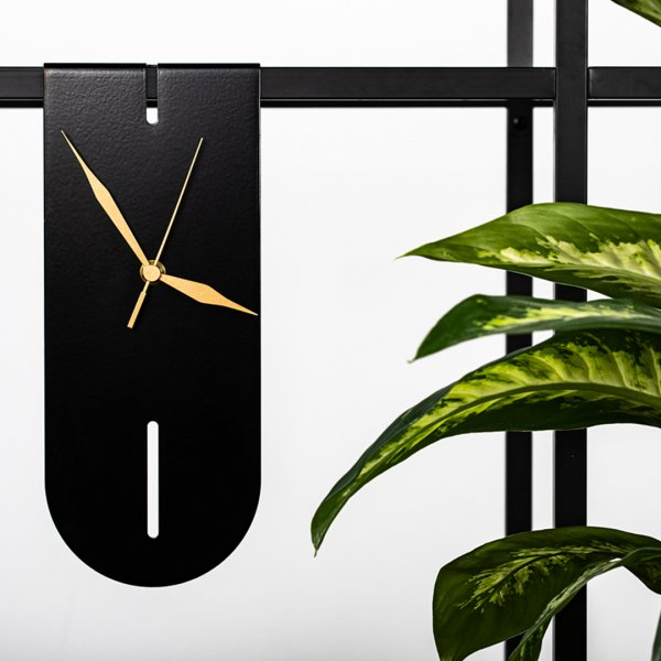 Black Salvador Clock