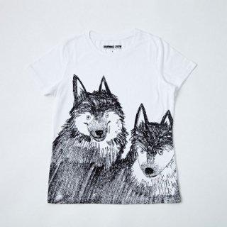 黒山 Wolf Dog T-SHIRT
