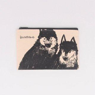黒山 Wolf Dogs Zipper Pouch