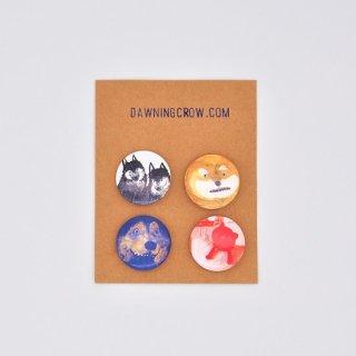 黒山 Weird Dog Badges Set