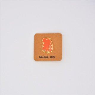 黒山 Capybara Metal Pin