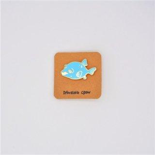 黒山 Blue Dog Face Puffer Fish Metal Pin