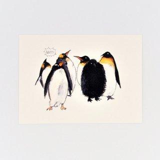黒山 The Penguins Print