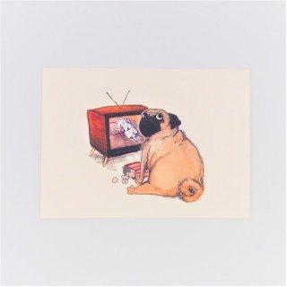 黒山 A Pug Print