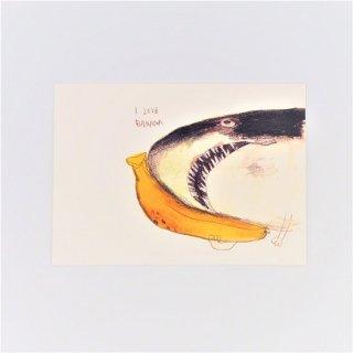 黒山 Banana Shark Print