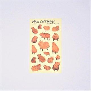 黒山 Capybara Sticker