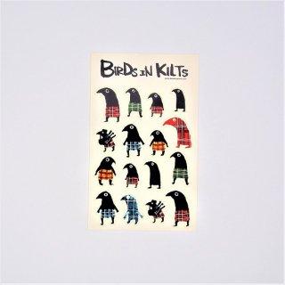 黒山 Birds in Kilts Sticker