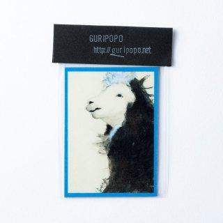 GURIPOPO 黒アルパカ マグネット