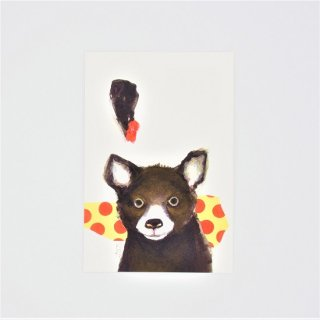 GURIPOPO ポストカード ドットクマ