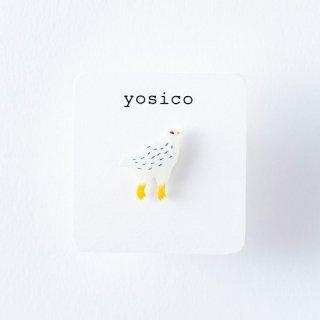 yosico ひとつぶピアス ライチョウ冬