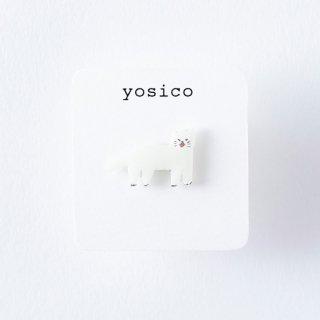 yosico ひとつぶピアス しろネコ