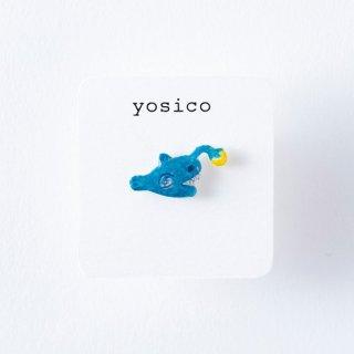 yosico ひとつぶピアス アンコウ