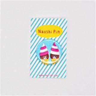 Naoshi 缶バッジ Soft Cream Girls