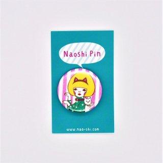 Naoshi 缶バッジ White Cat